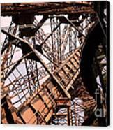 Eiffel Tower Paris France Close Up Canvas Print