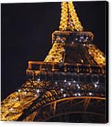 Eiffel Tower Paris France Illuminated Canvas Print by Patricia Awapara