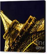 Eiffel Tower Paris France Side Canvas Print