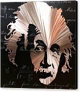 Einstein Canvas Print by Chris Mackie
