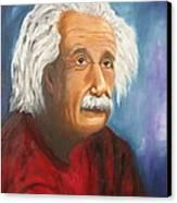 Einstein Canvas Print by Doris Cohen