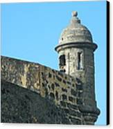 El Morro Parapet 1 Canvas Print by David  Ortiz