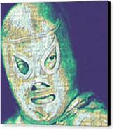 El Santo The Masked Wrestler 20130218v2 Canvas Print by Wingsdomain Art and Photography