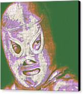 El Santo The Masked Wrestler 20130218v2m128 Canvas Print by Wingsdomain Art and Photography