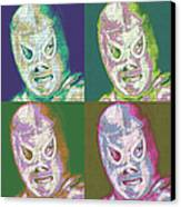 El Santo The Masked Wrestler Four 20130218 Canvas Print by Wingsdomain Art and Photography