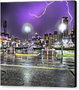 Electric Detroit  Canvas Print by Nicholas  Grunas