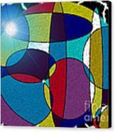 Electrifying Color Canvas Print by Lewanda Laboy