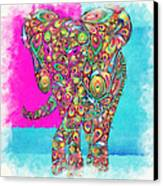 Elefantos - Ptw01a Canvas Print by Variance Collections
