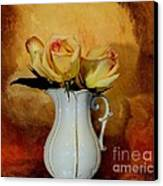 Elegant Triple Roses Canvas Print by Marsha Heiken