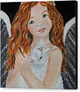 Eliana Little Angel Of Answered Prayers Canvas Print by The Art With A Heart By Charlotte Phillips