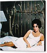 Elizabeth Taylor In Cat On A Hot Tin Roof  Canvas Print