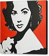 Elizabeth Taylor Canvas Print by Juan Molina