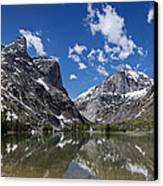 Elk Lake Panorama 1 Canvas Print by Roger Snyder