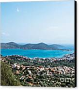 Elounda Town Canvas Print by Luis Alvarenga