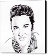 Elvis Canvas Print by Martin Howard