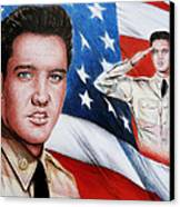 Elvis Patriot  Canvas Print