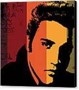 Elvis Presley Canvas Print by Kenneth Feliciano