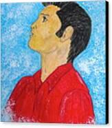 Elvis Presley Singing Canvas Print