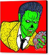 elvis presley Zombified Canvas Print by Gary Niles