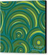 Emerald Green Abstract Canvas Print