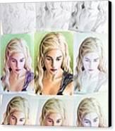 Emilia Clarke Miniature Step By Step Canvas Print by Wu Wei
