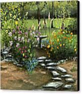 Emily's Garden Canvas Print by Cecilia Brendel