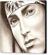 Eminem Canvas Print by Michael Mestas