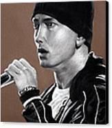 Eminem - Slimshady - Marshall Mathers - Portrait Canvas Print by Prashant Shah