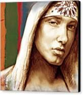 Eminem - Stylised Drawing Art Poster Canvas Print