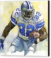 Emmitt Smith Canvas Print by Michael  Pattison