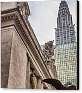 Empire State Building And Grand Central Station Dramatic Canvas Print by For Ninety One Days