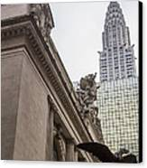 Empire State Building And Grand Central Station Canvas Print by For Ninety One Days