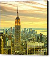 Empire State Building In The Evening Canvas Print by Sabine Jacobs
