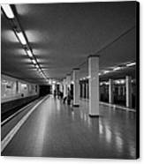 empty Potsdamer Platz s-bahn station Berlin Germany Canvas Print by Joe Fox