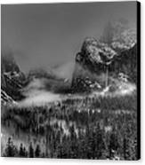 Enchanted Valley In Black And White Canvas Print