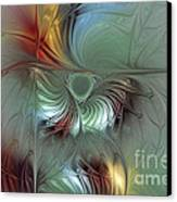 Enchanting Flower Bloom-abstract Fractal Art Canvas Print by Karin Kuhlmann