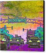 Encinitas California 5d24221p68 Canvas Print by Wingsdomain Art and Photography