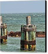 Endlessly Staring Out To Sea Canvas Print by Wendy J St Christopher