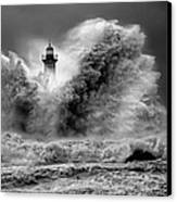 Enduring The Elements Bw Canvas Print