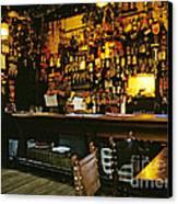 English Pub At Christmas-time Uk 1980s Canvas Print by David Davies