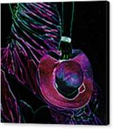 Enigma Purple. Black Art Canvas Print by Jenny Rainbow