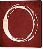 Enso No. 107 Red Canvas Print by Julie Niemela
