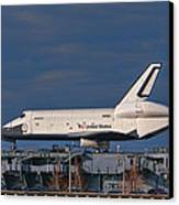 Enterprise At The Intrepid Canvas Print by S Paul Sahm