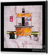 Enterprise Woodstove - Yellow Canvas Print by Barbara Griffin