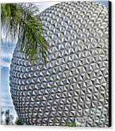 Epcot Globe Canvas Print by Thomas Woolworth