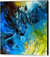 Equus Blue Ghost Canvas Print by Marcia Baldwin