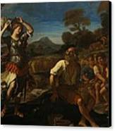 Erminia And The Shepherds Canvas Print by Giovanni Francesco Barbieri