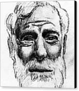 Ernest Hemingway Portrait  Canvas Print