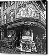 Ernst Roebers Saloon - Manhattan - 1908 Canvas Print by Daniel Hagerman