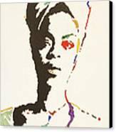 Erykah Badu Canvas Print by Stormm Bradshaw